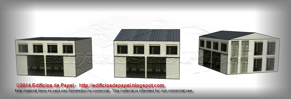 Maqueta de papel de la Fábrica Siderúrgica: configuración básica
