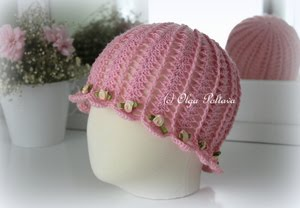Cloche Summer Hat Pattern, Size 3-5 Years Old, $3.25