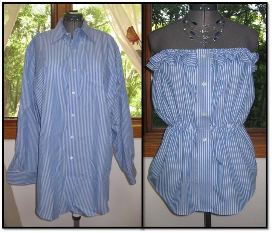 Usa tu ropa vieja para hacer ropa nueva. Puedes usar tu ropa vieja para crear prendas completamente diferentes. En este caso, lo más recomendable es utilizar un vestido o camiseta de mangas cortas de talla grande de forma que tengas más tela con la que trabajar.