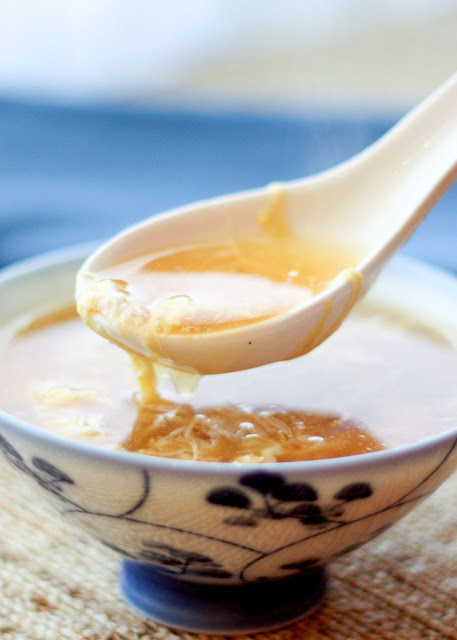 Chinese Egg Drop Soup can be made in just a few minutes and it's always a hit! get the recipe at barefeetinthekitchen.com