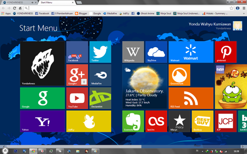 Tampilan Chrome Seperti Windows 8