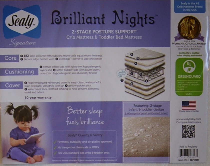 Sealy Signature Brilliant Nights 2 Stage Crib Mattress
