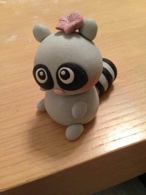 Dåpskake pynt, søt liten lemur i marsipan