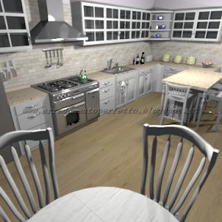 La cucina in stile provenzale con caratteristiche metropolitane