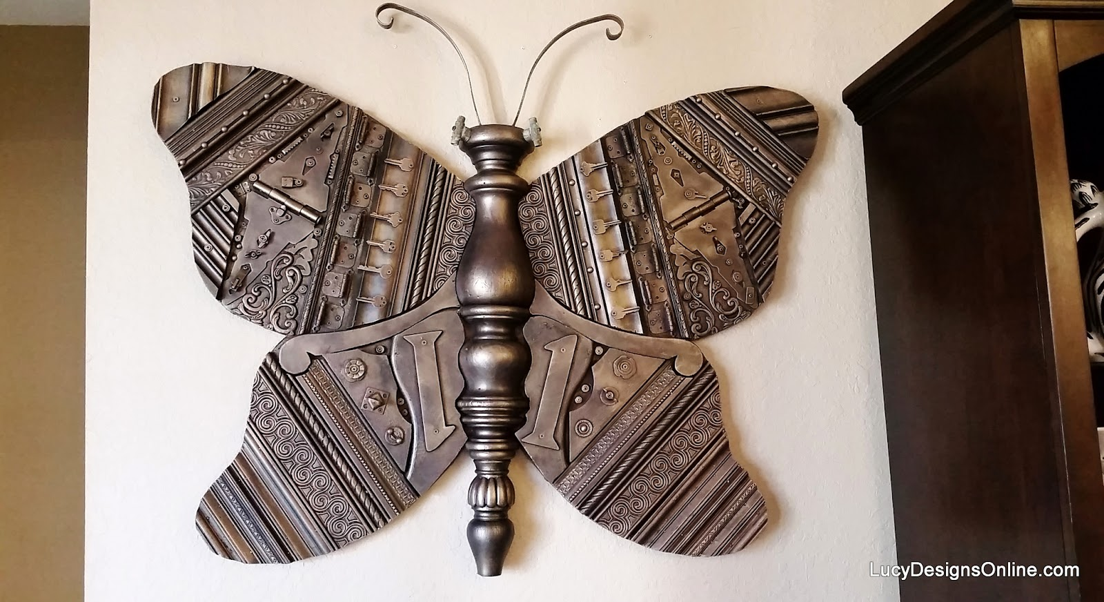 Cute giant butterfly recycled art