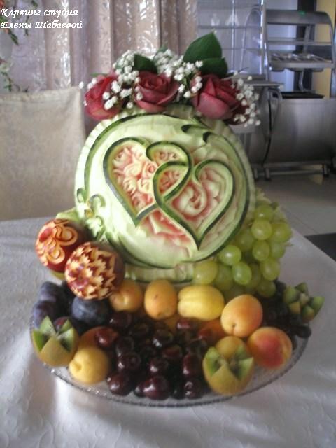 декоративная нарезка фруктов карвинг свадьба