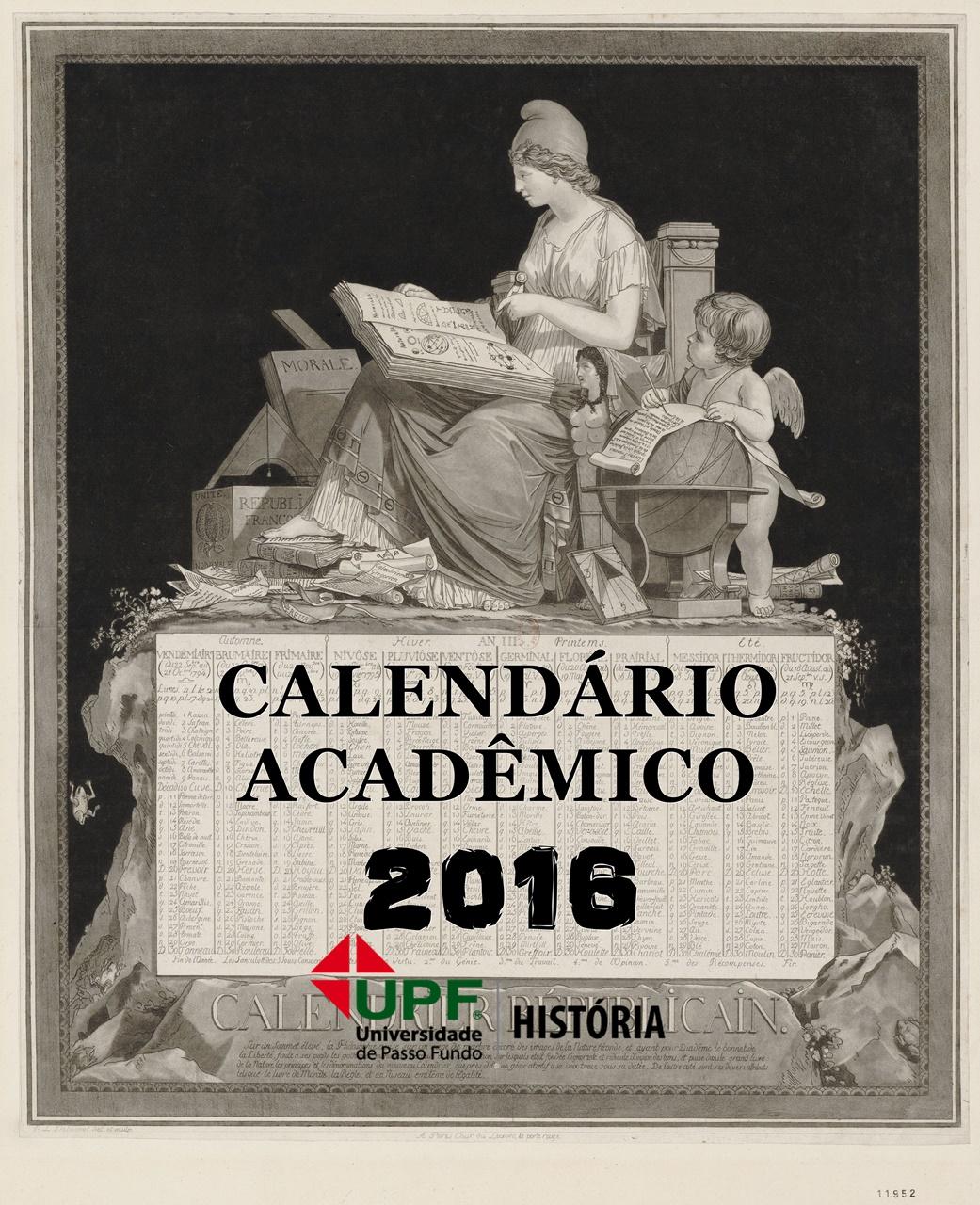 Calendário Acadêmico - HISTÓRIA 2016