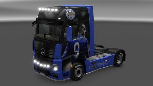 Jamie Vardy skin for Mercedes MP4