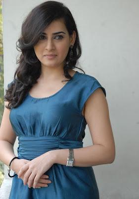 sweet perfect beautiful Archana latest stills in blue short dress