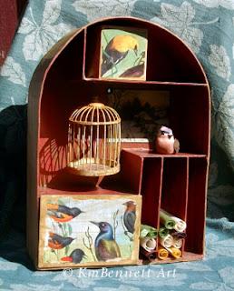 Meditation shelf birdcage