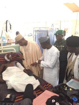Vice President Osinbajo Visits Gombe Bomb Blast Victims