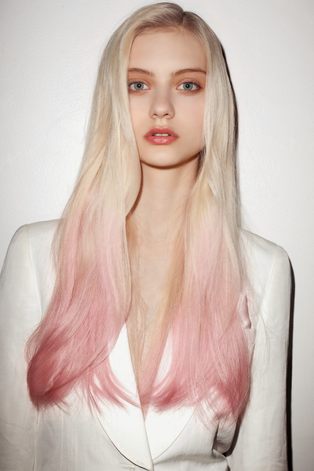 Blonde with Pink Hair