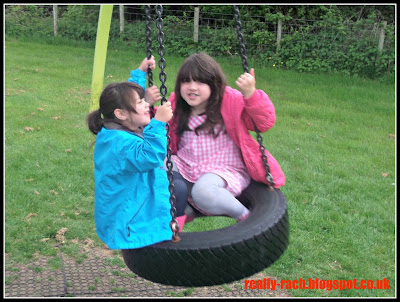 swinging on a tyre swing