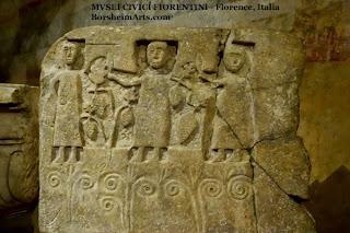 medieval stone carving Salvatore Romano museum Florence Italy