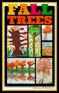 Children Paint the Trees for Fall via RainbowsWithinReach
