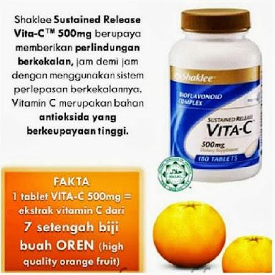 Vitamin C Shaklee membantu atasi demam dan selsema.