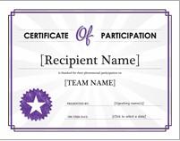 contoh sertifikat ms word