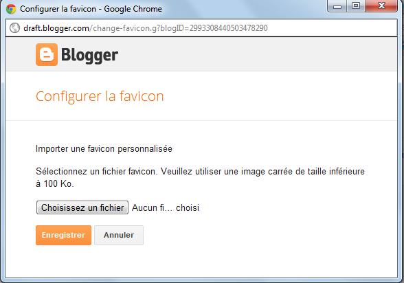Importer votre favicon personnalisée sur Blogger blogspot