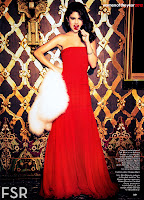 Selena Gomez in a floor lenght red gown
