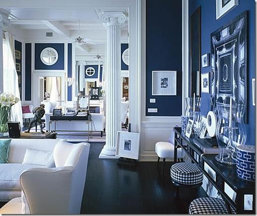 desain interior biru rumah minimalis