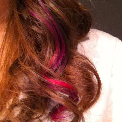 extension colorate viola rosa curly hair