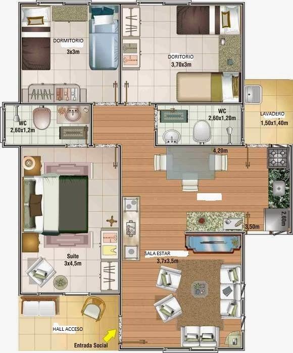 Planos proyecto direcci n y construcci n de obras for Planos de construccion de casas pequenas