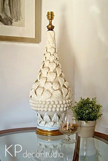 lamparas manises de caramica antiguas. comprar lampara manises en bues estado sin roturas