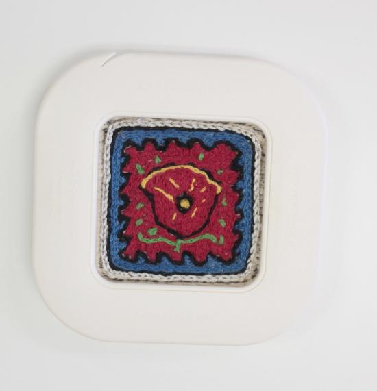 The Zoom Loom as an embroidery hoop.