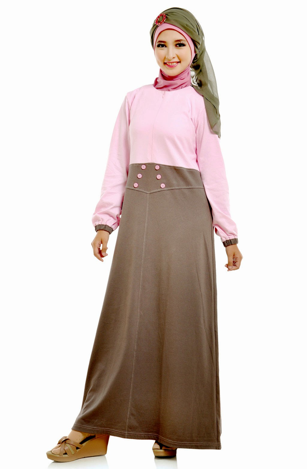 Model Baju Hamil Muslim Modis Modern Terbaik 2015