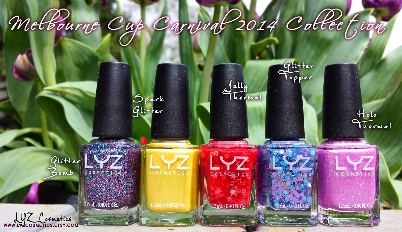 Bettina Nails: Melbourne Cup Carnival 2014 Collection by LYZ Cosmetics