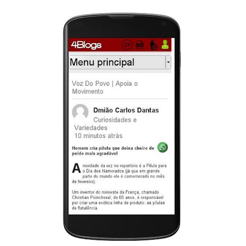 4Blogs otimizado para Smartphones e Tablets