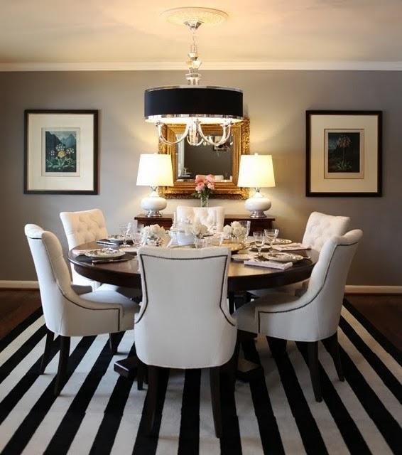Black And White Striped Round Coffee Table: **Aroma E Artesanatos
