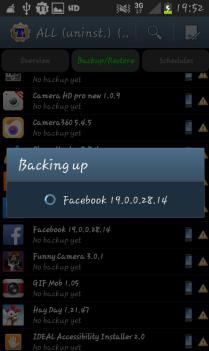 Backup Process Titanium Backup Android