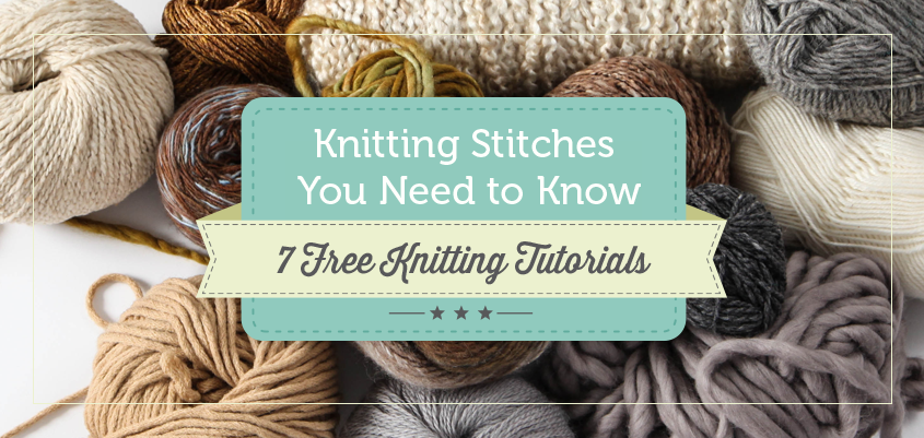 7 free knitting stitch tutorials from Craftsy
