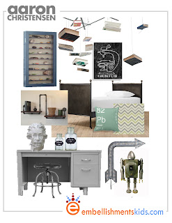 science theme teen tween room mood board