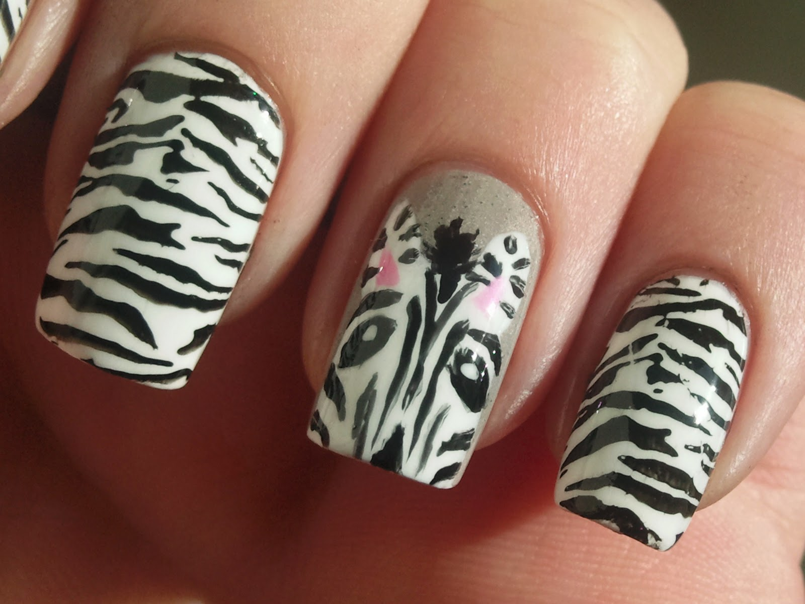 zebra nail designs acrylic nails tattoos photos design gallery nail art design ideas collection. Black Bedroom Furniture Sets. Home Design Ideas