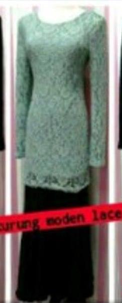 Baju Kurung Lace - Turquoise