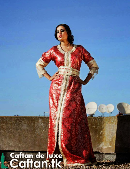 Caftan marocain demi-manche pas cher