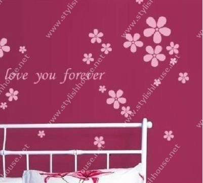 Stylishly wall stickers drawings for bedroom