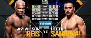 UFC 201: Vídeo da luta - Wilson Reis x Hector Sandoval