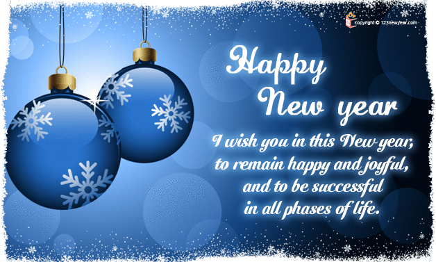 Happy New Year 2015 Wishes Greeting Card