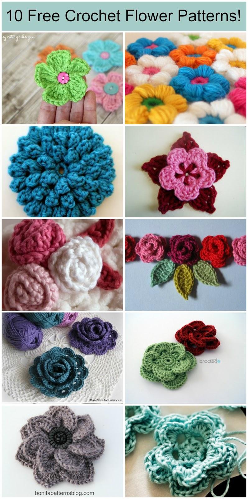 Free Crochet Flower Patterns Online : 10 Free Crochet Flower Patterns