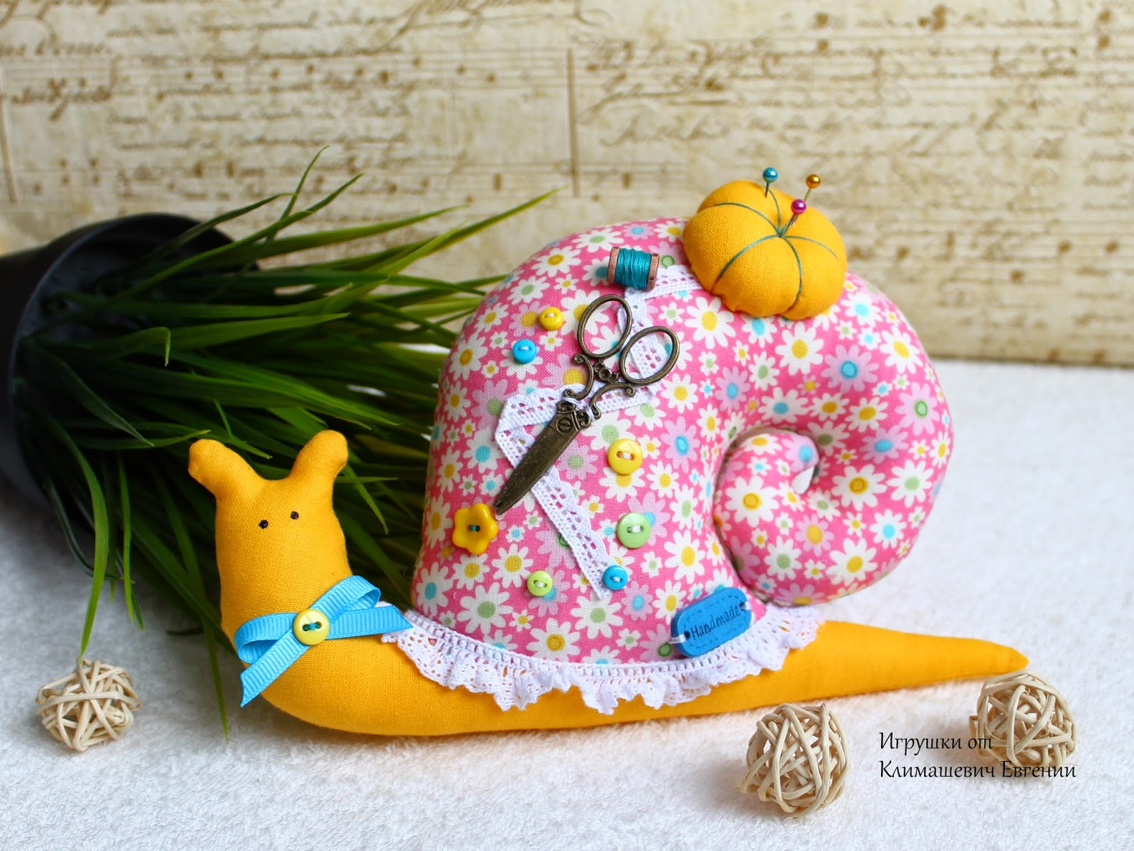 Улитка, улитка тильда, тильда, игрушка тильда, игрушка улитка, текстильная улитка, подарок, игрушка, интерьерная игрушка, авторская игрушка