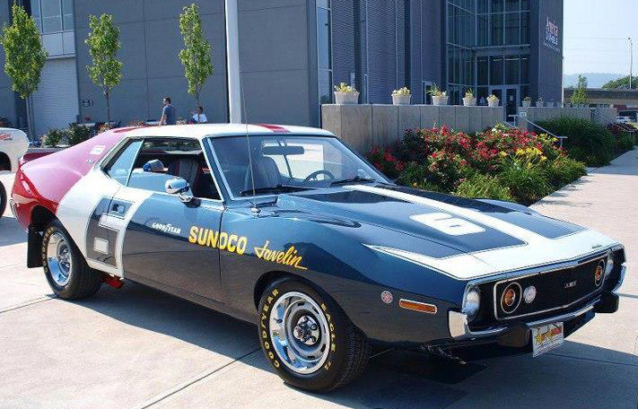 Just A Car Guy Cool Looking Javelin AMX Painted In Racing Form - Cool painted cars