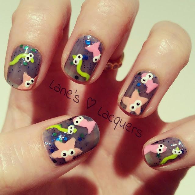 sparkly-neon-ocean-cute-creatures-nail-art