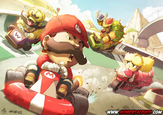 18 animações do mundo dos vídeos games e desenhos - Mario Kart