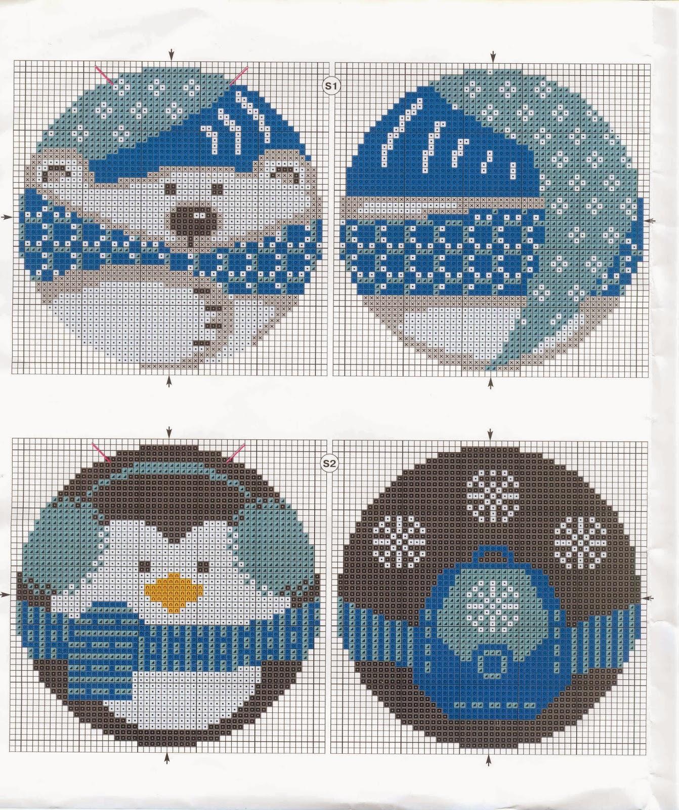 Вышивка новогодних игрушек крестиком схемы