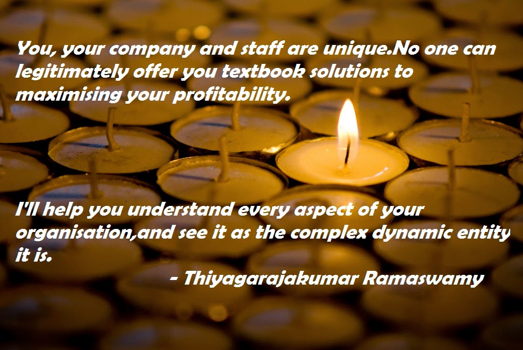You and your company is unique - Thiyagarajakumar Ramaswamy Leadership Stage Consulting