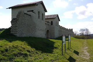 Kastell Pfünz - Rekonstruktion auf der Nordseite