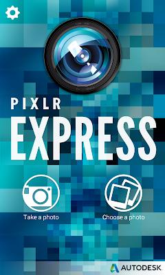 Pixlr Express: Launch screen